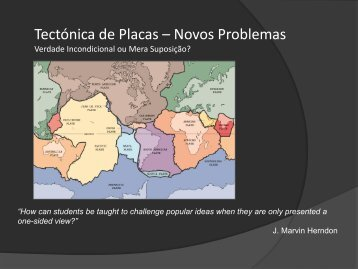 Tectónica de Placas – Novos Problemas - Webnode