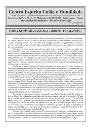 Edição 32 - Outubro/2009 - CEUH - Centro Espirita Uniao e ...