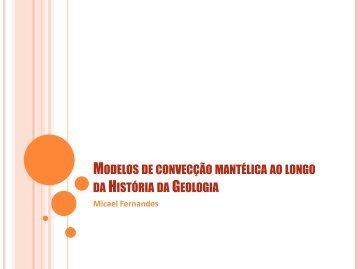 Modelos de convecção mantélica ao longo da História ... - Webnode