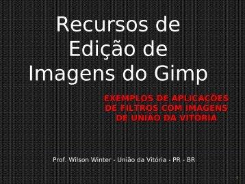 Recursos de Edição de Imagens do Gimp - NRE