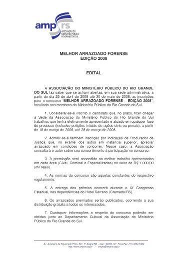 Clique aqui e confira o Edital - Associação do Ministério Público do ...