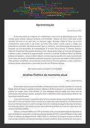 Análise Política do momento atual - Faculdades Santa Cruz