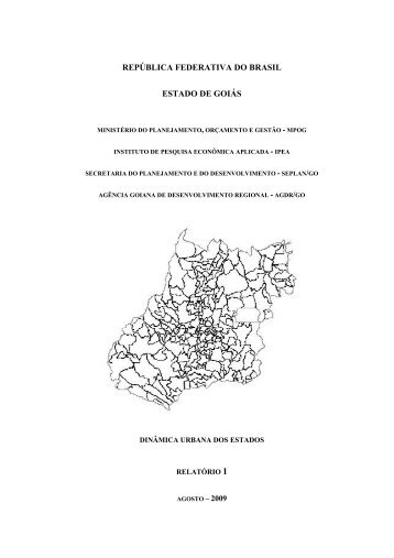 Redes Urbanas Relatório - Secretaria de Estado de Gestão e ...
