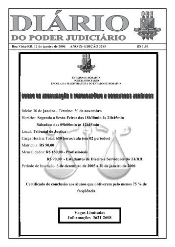 12 - Tribunal de Justiça do Estado de Roraima