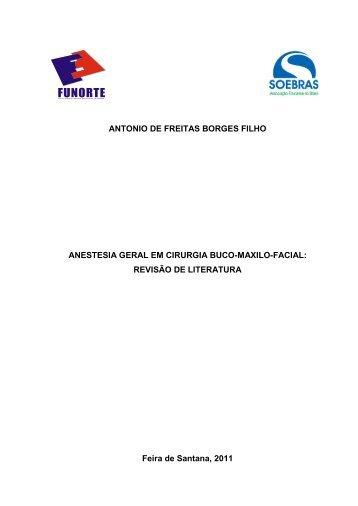 anestesia geral em cirurgia buco-maxilo-facial - Funorte