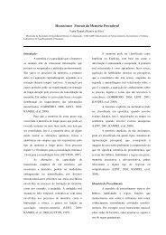 Mecanismos Neurais da Memória Procedural - DCA - Unicamp