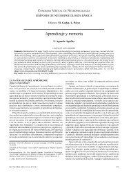Aprendizaje y memoria - Revista de Neurología