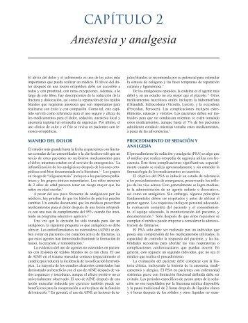 CAPíTulo 2 Anestesia y analgesia - Axon