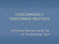 TOXICOMANÍAS Y TRASTORNOS MENTALES