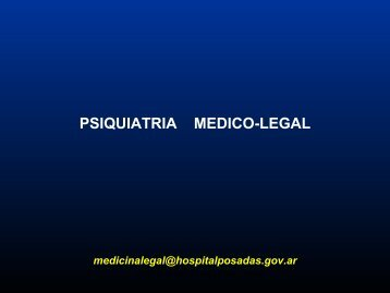 Psiquiatría médico legal - Hospital Posadas