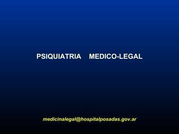 Psiquiatría médico legal - Hospital Posadas