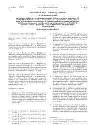 REGULAMENTO (CE) N.o 2074/2005 DA COMISSÃO de ... - EUR-Lex