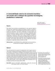 A vulnerabilidade externa da economia brasileira: um estudo sob o ...
