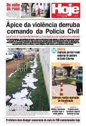 Ápice da violência derruba comando da Polícia Civil - Jornal Hoje