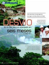 Desvio do rio São Marcos antecipado em seis - Furnas