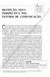 Recepção: nova perspectiva nos estudos de comunicação