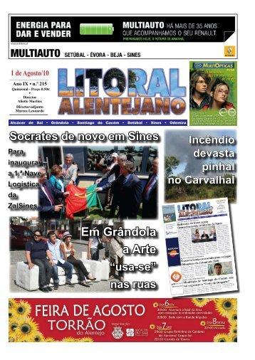 Inauguração Oficial Zmar, in Jornal Litoral Alentejano, Agosto 2010.