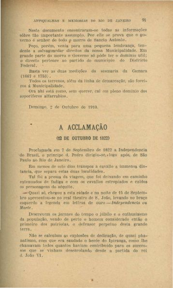 A Aclamação, por Vieira Fazenda - Rememorarte