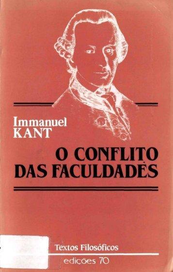 O CONFLITO DAS FACULDADES - OUSE SABER!