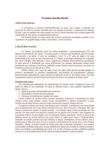 Trauma maxilo-facial - OtorrinoUSP