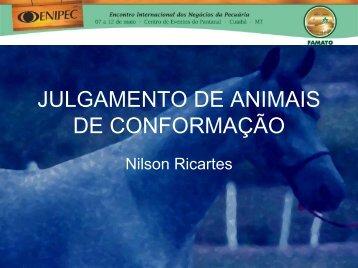 JULGAMENTO DE ANIMAIS DE CONFORMAÇÃO - Famato