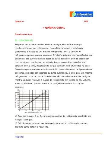 Tema 1 - Química Geral