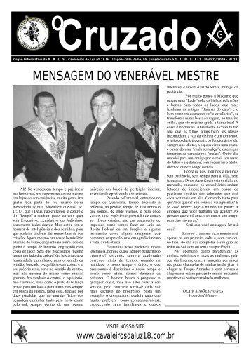 Jornal O CRUZADO - MARÇO/2009 - A:.R:.L:.S:. Cavaleiros da Luz ...