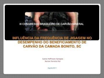 a influência da freqüência de jigagem no desempenho - ufrgs