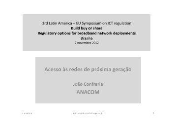 Acesso às redes de próxima geração ANACOM - Cullen International