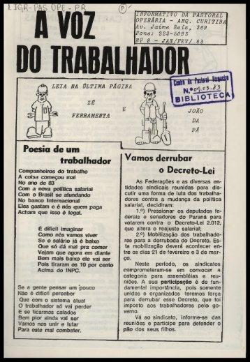 A VOZ DO TRABALHADOR