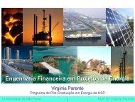 Engenharia Financeira em Projetos de Energia - Fiesp