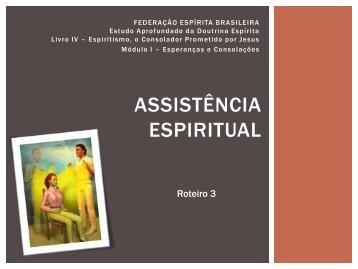 Assistência espiritual - Federação Espírita Brasileira