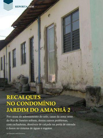 RECALQUES NO CONDOMíNIO JARDIM DO AMANHã 2 - Revista ...