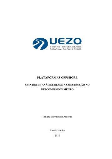 PLATAFORMAS OFFSHORE - UEZO