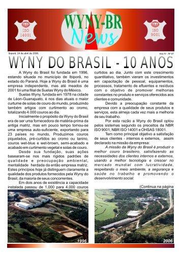 47ª Edição -Abril de 2006 - Wyny do Brasil