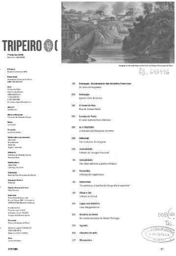 7a Série, Ano XXVIII Número 4, Abril 2009 O Tripeiro Revista ...