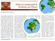 Deriva Continental & Tectônica de Placas - Geoturismobrasil.com