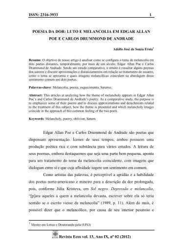 ISSN: 2316-3933 1 Revista Ecos vol. 13, Ano IX, nº 02 ... - Unemat
