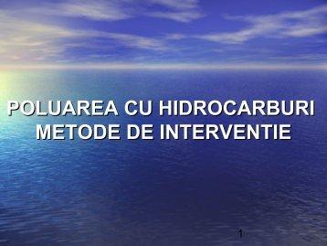 POLUAREA CU HIDROCARBURI METODE DE INTERVENTIE