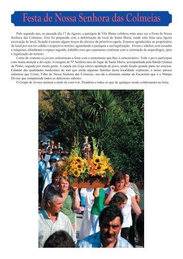 Festa de Nossa Senhora das Colmeias - Padre Alexandre
