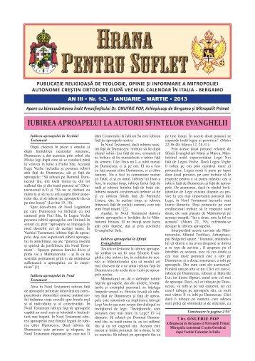 Hrana pentru suflet nr 1-3 2013 - Mitropolia Crestin Ortodoxa dupa ...