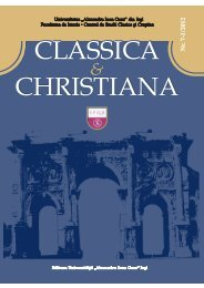 Classica et Christiana- vol. VII-1 (2012) - Facultatea de Istorie ...