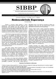 Boletim Informativo edição 4 - Segunda Igreja Batista de Barra do Piraí