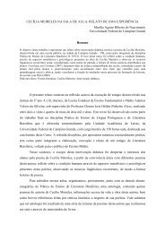 CECÍLIA MEIRELES NA SALA DE AULA - Realize Eventos e Editora