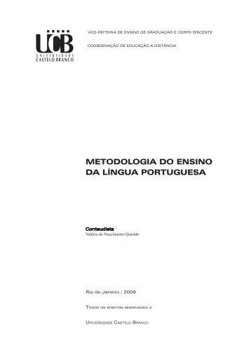 metodologia do ensino da língua portuguesa - Universidade ...