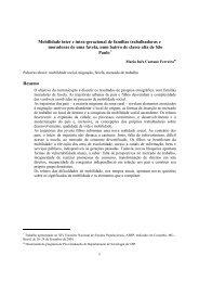 Mobilidade inter e intra-geracional de famílias trabalhadoras e ...