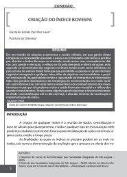 CRIAÇÃO DO ÍNDICE BOVESPA - AEMS