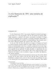 A crise financeira de 1891: uma tentativa de ... - Análise Social