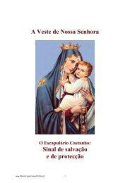 O Escapulário Castanho: Sinal de salvação e de protecção