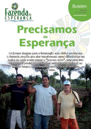 Boletim - Fazenda da Esperança